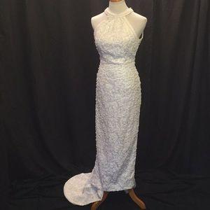 Dresses & Skirts - Beaded Sleeveless Halter Neck Wedding Dress